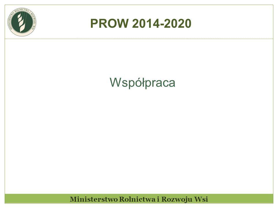 Ministerstwo Rolnictwa i Rozwoju Wsi Współpraca PROW 2014-2020