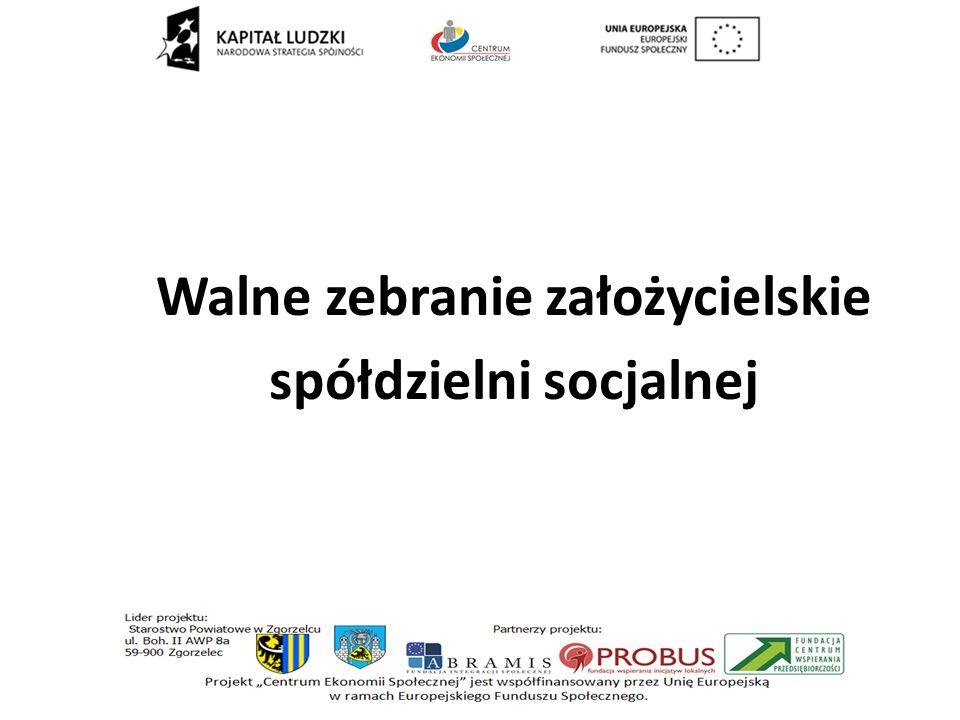 Walne zebranie założycielskie spółdzielni socjalnej
