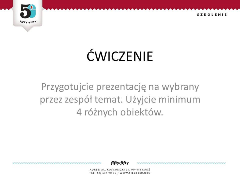 Przygotujcie prezentację na wybrany przez zespół temat.