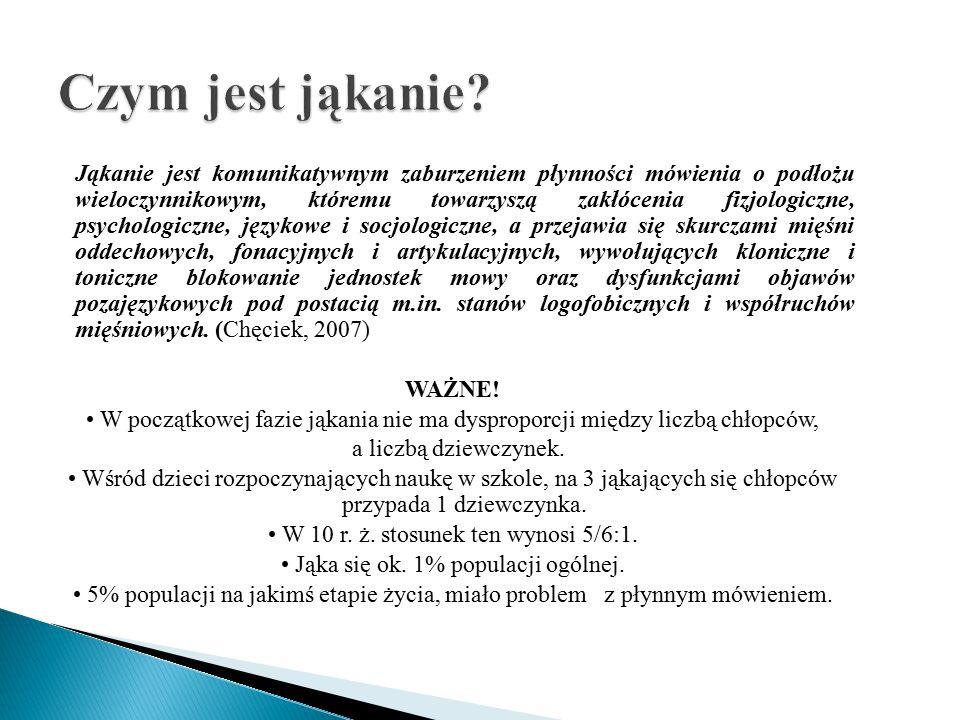 Rozwojowa niepłynność mówienia Kryterium różnicowania Jąkanie wczesnodziecięce W mniej więcej 4 r.ż.