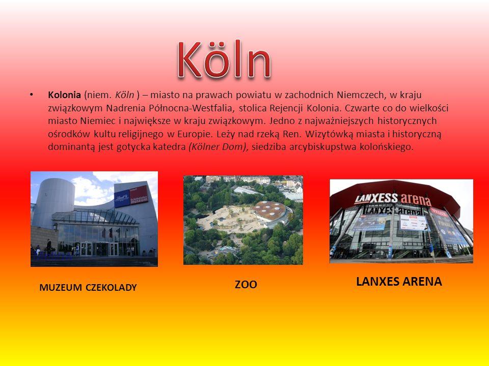 Kolonia (niem. Köln ) – miasto na prawach powiatu w zachodnich Niemczech, w kraju związkowym Nadrenia Północna-Westfalia, stolica Rejencji Kolonia. Cz