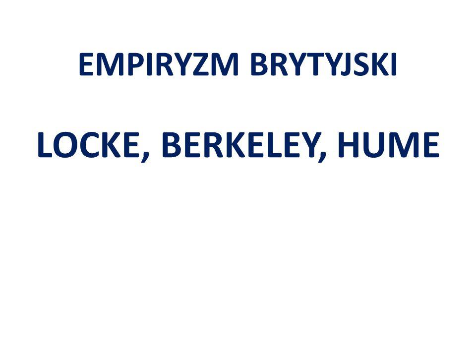 EMPIRYZM BRYTYJSKI LOCKE, BERKELEY, HUME