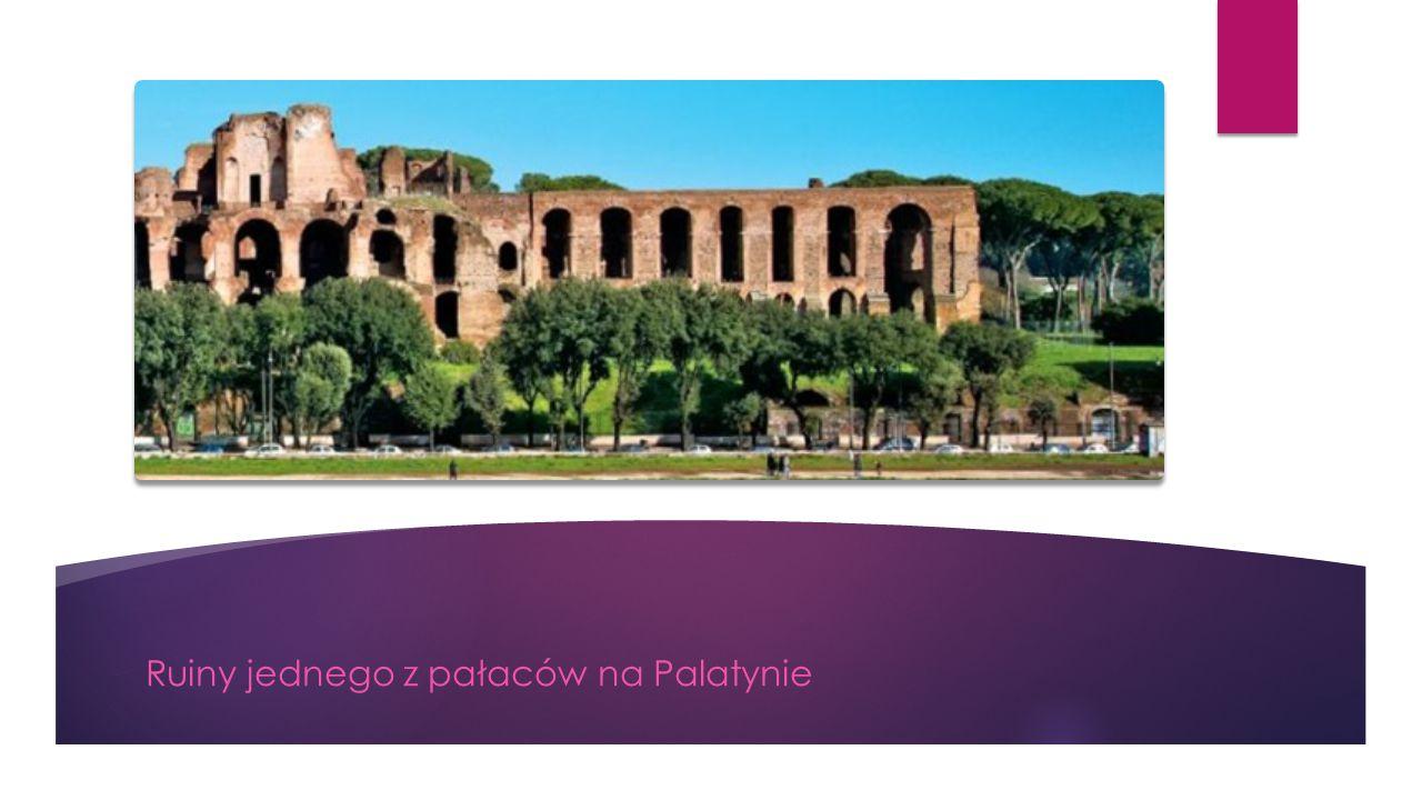 Ruiny jednego z pałaców na Palatynie