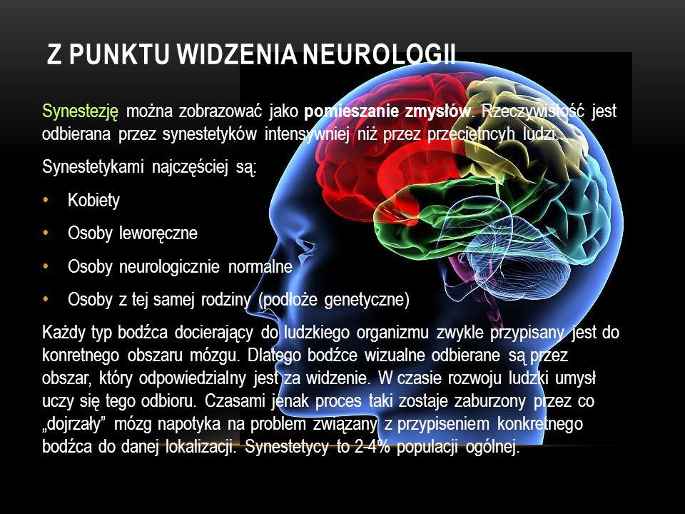 Synestezja jest emocjonalna i noetyczna. Doznania synestezyjne są noetyczne, ponieważ są bliskie stanom oświecenia, czy objawienia, w połączeniu z rea