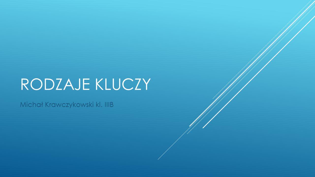 RODZAJE KLUCZY Michał Krawczykowski kl. IIIB