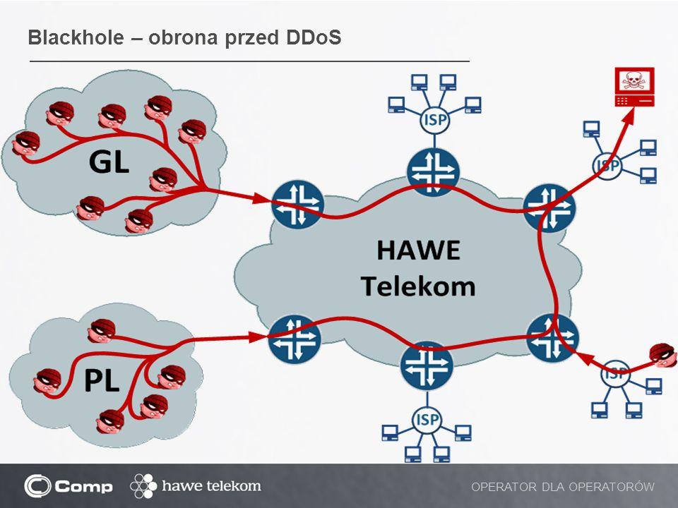 Blackhole – obrona przed DDoS OPERATOR DLA OPERATORÓW