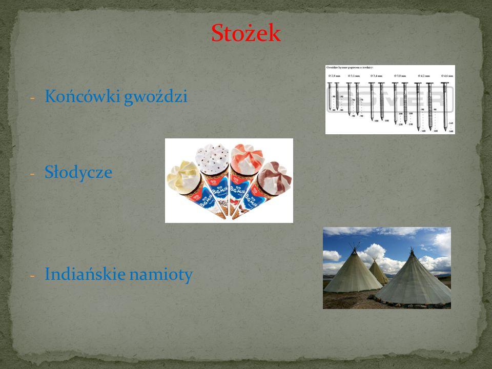 Stożek - Końcówki gwoździ - Słodycze - Indiańskie namioty
