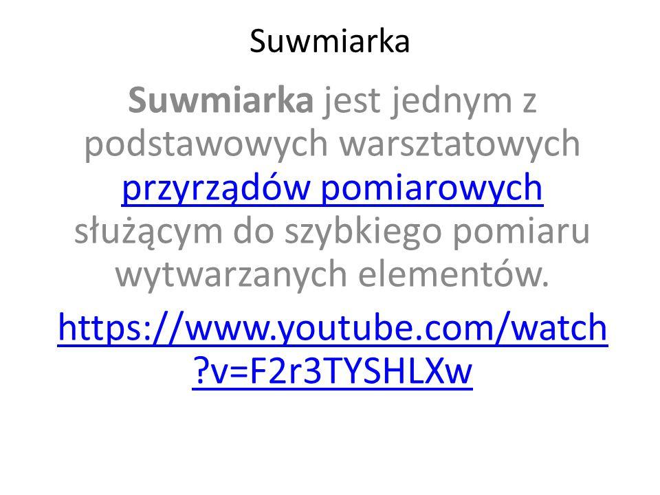 Suwmiarka Suwmiarka jest jednym z podstawowych warsztatowych przyrządów pomiarowych służącym do szybkiego pomiaru wytwarzanych elementów.