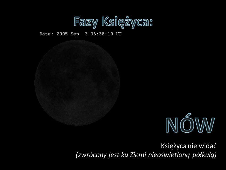 Księżyca nie widać (zwrócony jest ku Ziemi nieoświetloną półkulą)