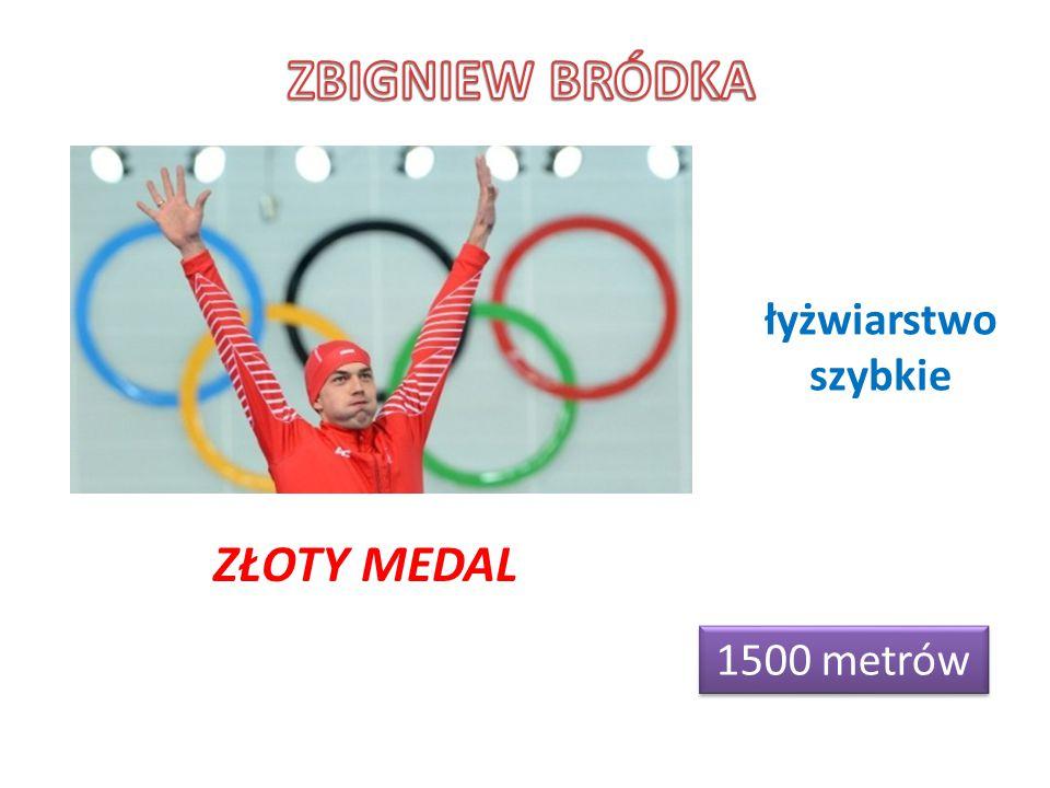 1500 metrów ZŁOTY MEDAL łyżwiarstwo szybkie