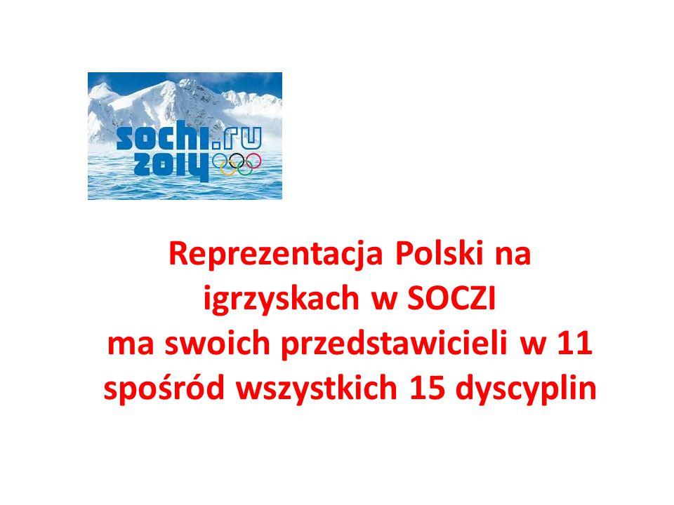 Reprezentacja Polski na igrzyskach w SOCZI ma swoich przedstawicieli w 11 spośród wszystkich 15 dyscyplin