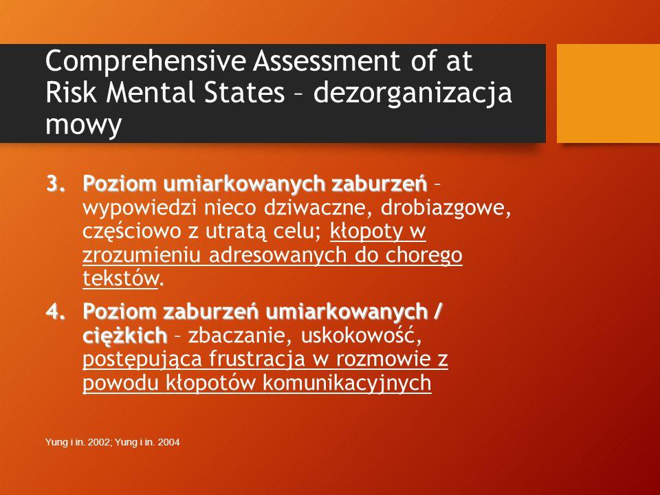 Self-disorder scale – objawy deficytów poznawczych 5.