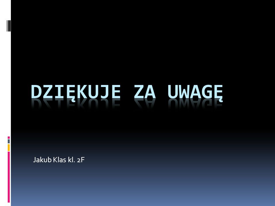 Jakub Klas kl. 2F