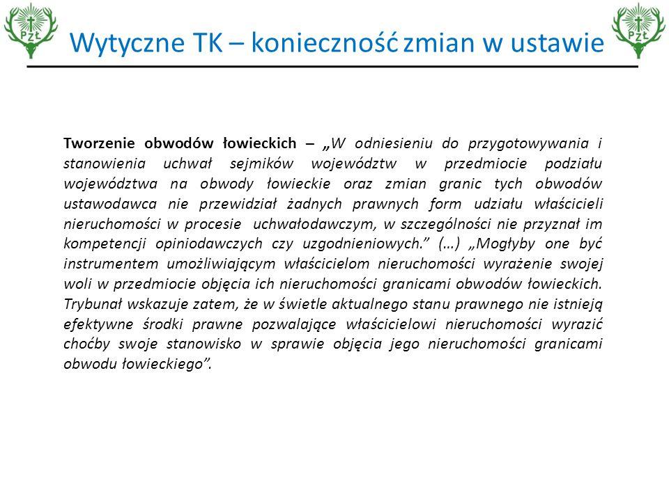 Przetargi na obwody łowieckie  Przetargi to rozwiązanie dla najzamożniejszych  Automatyczny wzrost opłat za obwody i tym samym zwiększenie kosztów polowania,  Eksploatacja najlepszych łowisk a nie gospodarowanie łowieckie  Brak chętnych na najsłabsze obwody  Zmniejszenie udziału polskich myśliwych w wykonywaniu polowania – niekonkurencyjność z ofertami myśliwych z innych krajów UE.