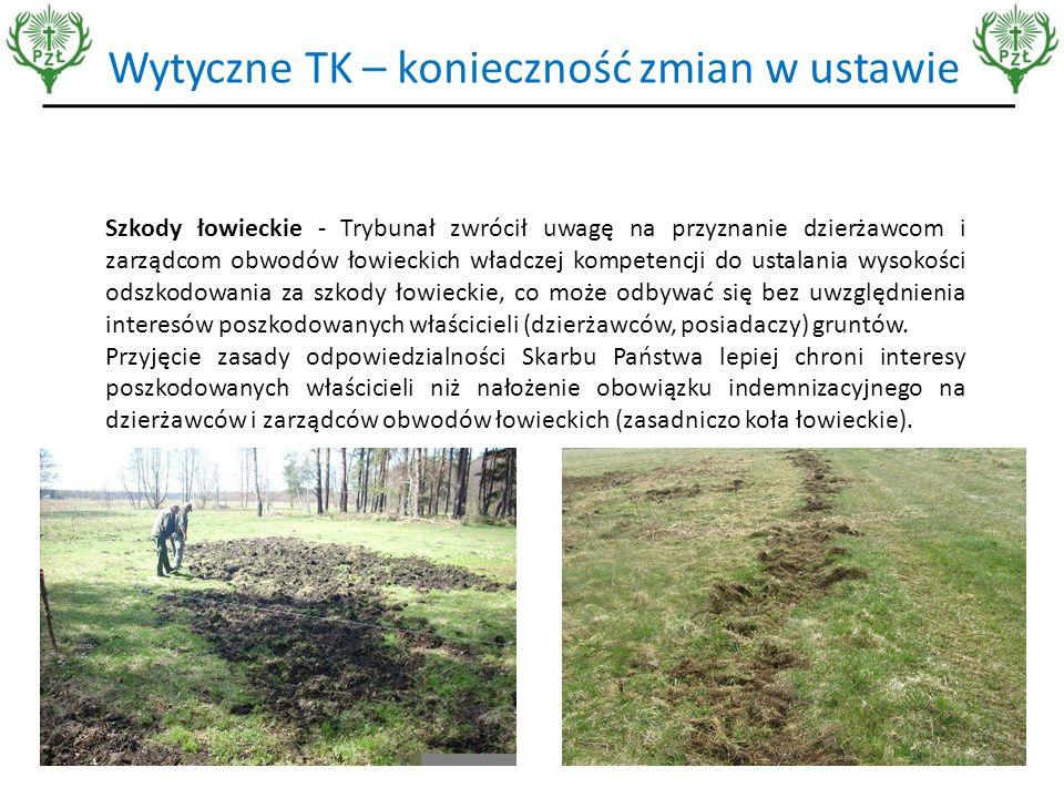 """Związanie prawa do polowania z własnością gruntu  Oddzielenie tych dwóch kwestii jest tak samo uzasadnione jak oddzielenie własności gruntu od pożytku z kopalin znajdujących się pod jej powierzchnią, od prawa do korzystania z powierzchni powietrznej nad tym gruntem,  Zwierzęta żyją na większej powierzchni i nie mogą być """"zamykane w kręgu jakiegoś kawałka gruntu,  Na Litwie polujący właściciele ziemscy zaskarżyli do TK status własności zwierzyny i przegrali,  Osoba mająca prawo do polowania (właściciel nieruchomości) nie będzie miał interesu w prowadzeniu racjonalnej gospodarki łowieckiej,  Związek między prawem do polowania a prawem do gruntu to zaledwie 227 lat, zaś autonomia tych uprawnień to 724 lata."""