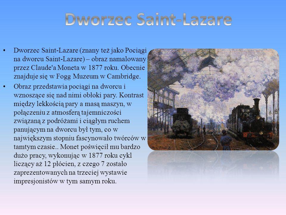 Oscar Claude Monet ( ur. 14 listopada 1840 w Pary ż u, zm. 5 grudnia 1926 w Giverny) – francuski malarz, jeden z twórców i czo ł owych przedstawicieli