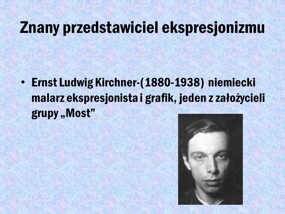 Ekspresjonizm Ekspresjonizm- kierunek w sztuce (głównie malarstwie) XX wieku oparty na środkach- ekspresji, ekspresjoniści podejmowali często ważne te