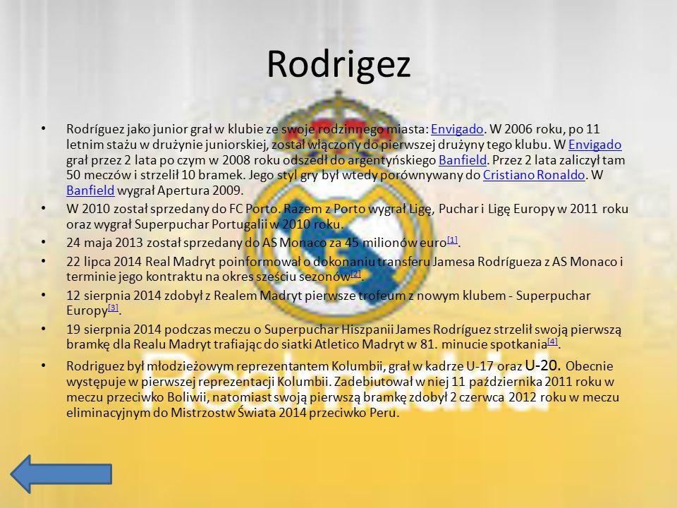 Rodrigez Rodríguez jako junior grał w klubie ze swoje rodzinnego miasta: Envigado. W 2006 roku, po 11 letnim stażu w drużynie juniorskiej, został włąc