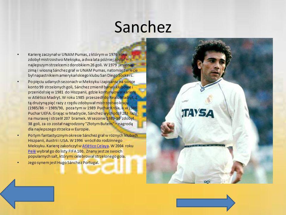 Sanchez Karierę zaczynał w UNAM Pumas, z którym w 1976 roku zdobył mistrzostwo Meksyku, a dwa lata później został najlepszym strzelcem z dorobkiem 26