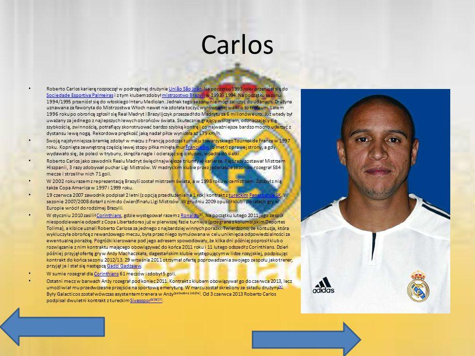 Carlos Roberto Carlos karierę rozpoczął w podrzędnej drużynie União São João. Na początku 1993 roku przeniósł się do Sociedade Esportiva Palmeiras i z