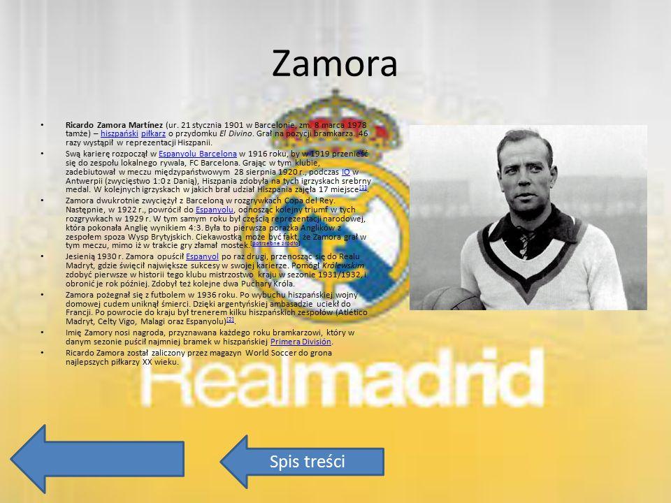 Zamora Ricardo Zamora Martínez (ur. 21 stycznia 1901 w Barcelonie, zm. 8 marca 1978 tamże) – hiszpański piłkarz o przydomku El Divino. Grał na pozycji