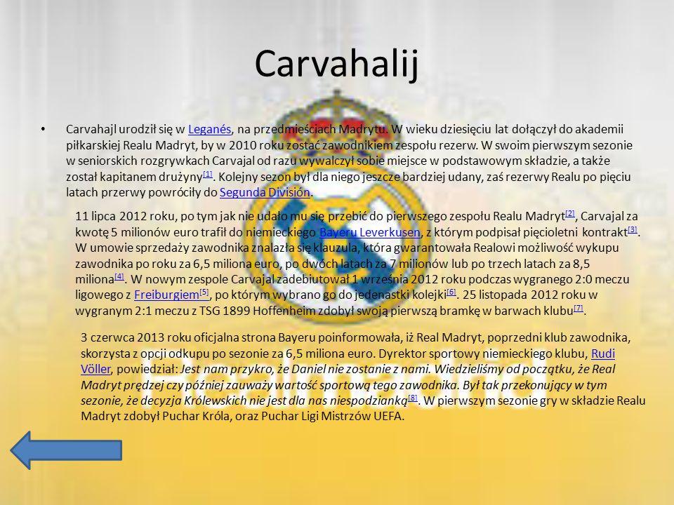 Carvahalij Carvahajl urodził się w Leganés, na przedmieściach Madrytu. W wieku dziesięciu lat dołączył do akademii piłkarskiej Realu Madryt, by w 2010