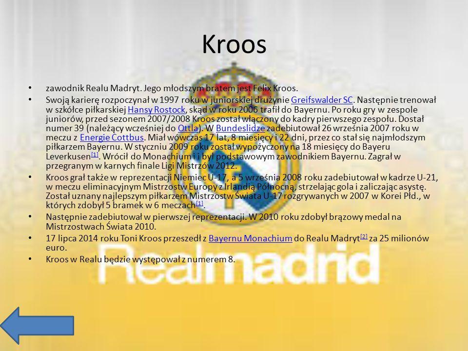 Kroos zawodnik Realu Madryt. Jego młodszym bratem jest Felix Kroos. Swoją karierę rozpoczynał w 1997 roku w juniorskiej drużynie Greifswalder SC. Nast