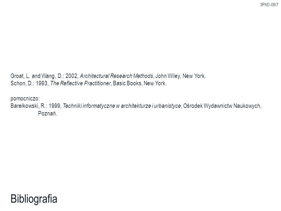 3PhD-08/7 Bibliografia Groat, L.