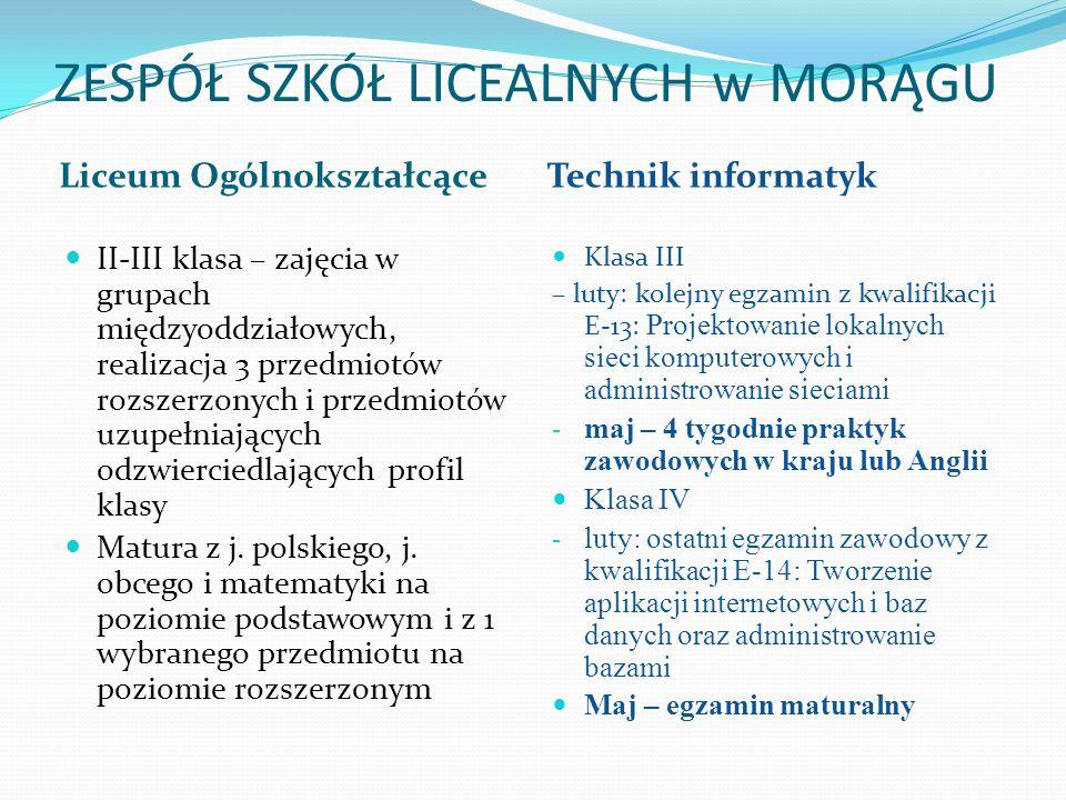 Dlaczego Liceum Ogólnokształcące Nr II im.L. Kruczkowskiego w Morągu.