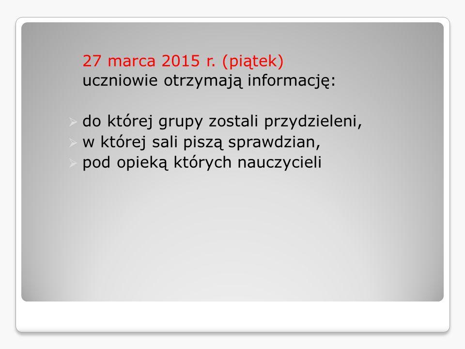 27 marca 2015 r.