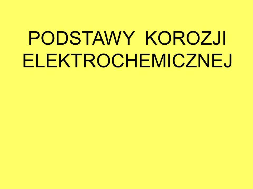 Reakcja elektrodowaSkrócony zapisPotencjał normalny E 0 h (V) S 2 O 8 2- + 2e - = 2SO 4 2- S 2 O 8 2- /SO 4 2- 2,050 ClO - +2H + +2e - =Cl - +H 2 OClO - /Cl - 1,640 MnO 4 - +8H + +5e =Mn 2+ +12H 2 OMnO 4 - /Mn 2+ 1,510 Cl 2 +2e - =2Cl - Cl 2 /2Cl - 1,360 O 2 +4H + +4e - =2H 2 OO 2 /O 2- 1,228 Fe 3+ +e - =Fe 2+ Fe 3+ /Fe 2+ 0,771 O 2 +2e - +2H + =H 2 O 2 O 2 /H 2 O 2 0,680 (CN) 2 +2H + +2e - =2HCN(CN) 2 /HCN 0,370 Fe(CN) 6 3- +e - =Fe(CN) 6 4- Fe(CN) 6 3- /Fe(CN) 6 4- 0,363 Cu 2+ +e - =Cu + Cu 2+ /Cu + 0,167 2H + +2e - =H 2 H + /H 2 0,000 SO 4 2- +2H + +2e - =SO 3 2- +H 2 OSO 4 2- /SO 3 2- –0,103 N 2 +4H + +4e - =N 2 H 4 N 2 /N 2- –0,333 S+2e - =S 2- S/S 2- –0,510 Zn 2+ +2e - =ZnZn 2+ /Zn –0,763 POTENCJAŁY STANDARDOWE WYBRANYCH REAKCJI