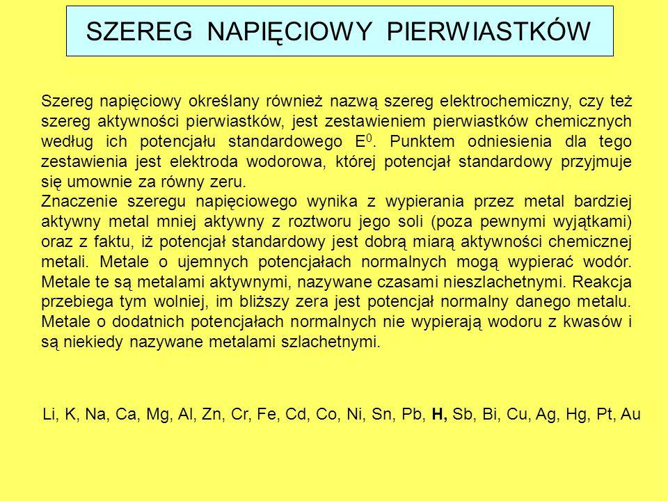 Szereg napięciowy określany również nazwą szereg elektrochemiczny, czy też szereg aktywności pierwiastków, jest zestawieniem pierwiastków chemicznych
