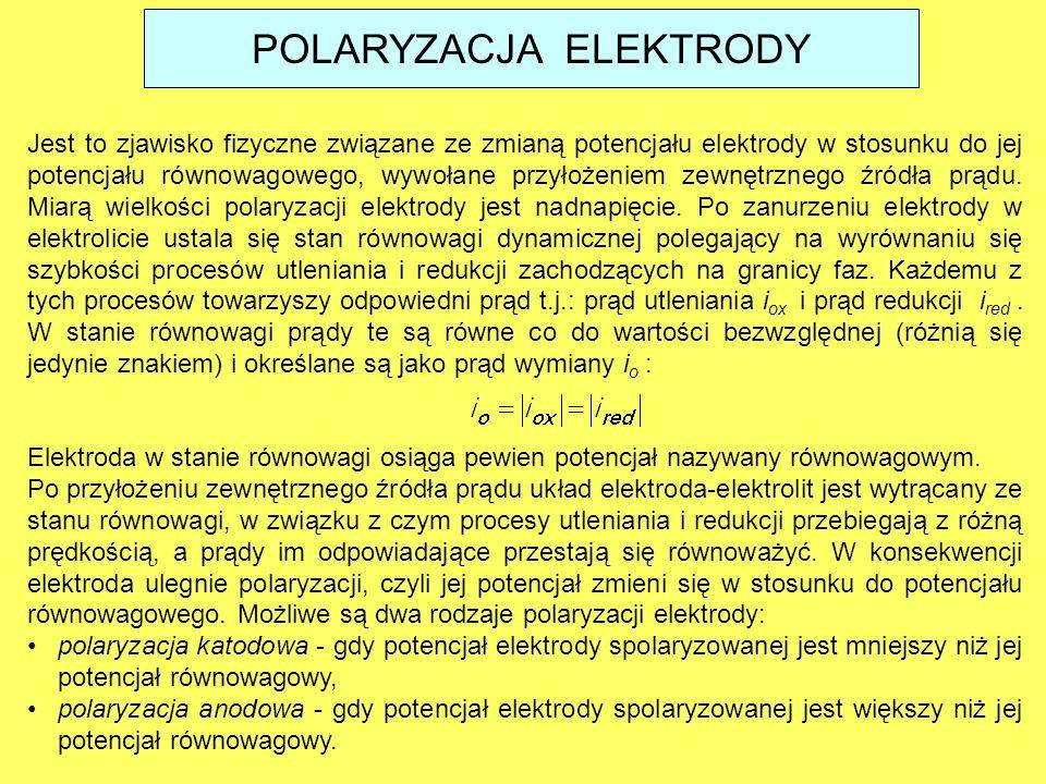 Jest to zjawisko fizyczne związane ze zmianą potencjału elektrody w stosunku do jej potencjału równowagowego, wywołane przyłożeniem zewnętrznego źródł