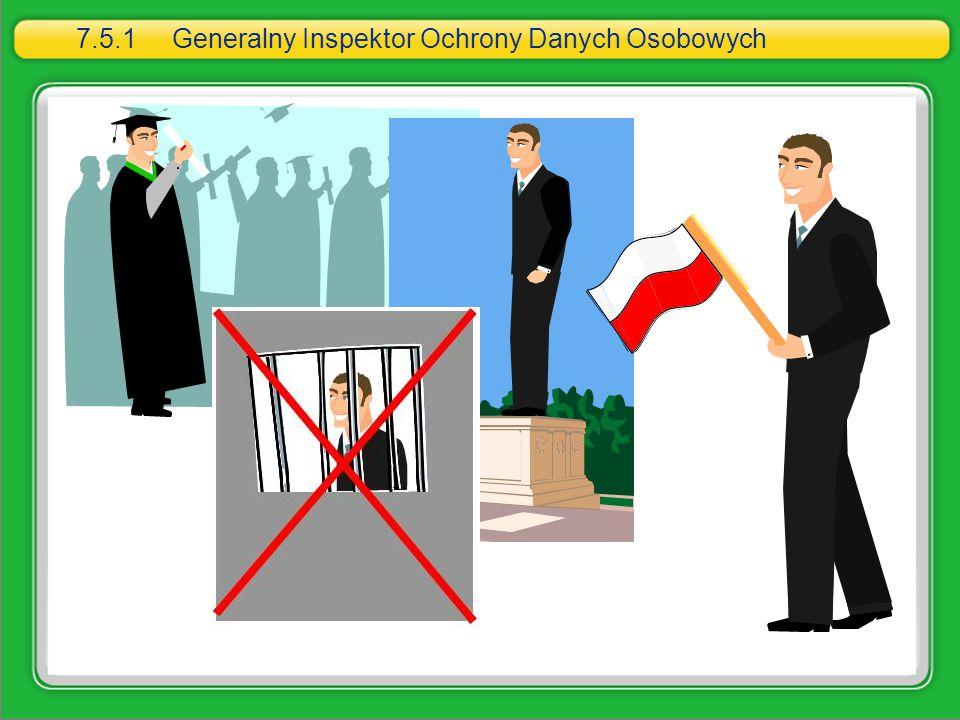 7.5.1Generalny Inspektor Ochrony Danych Osobowych
