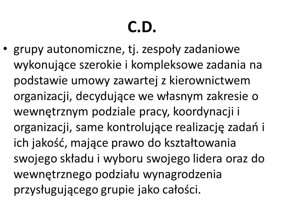 C.D.grupy autonomiczne, tj.