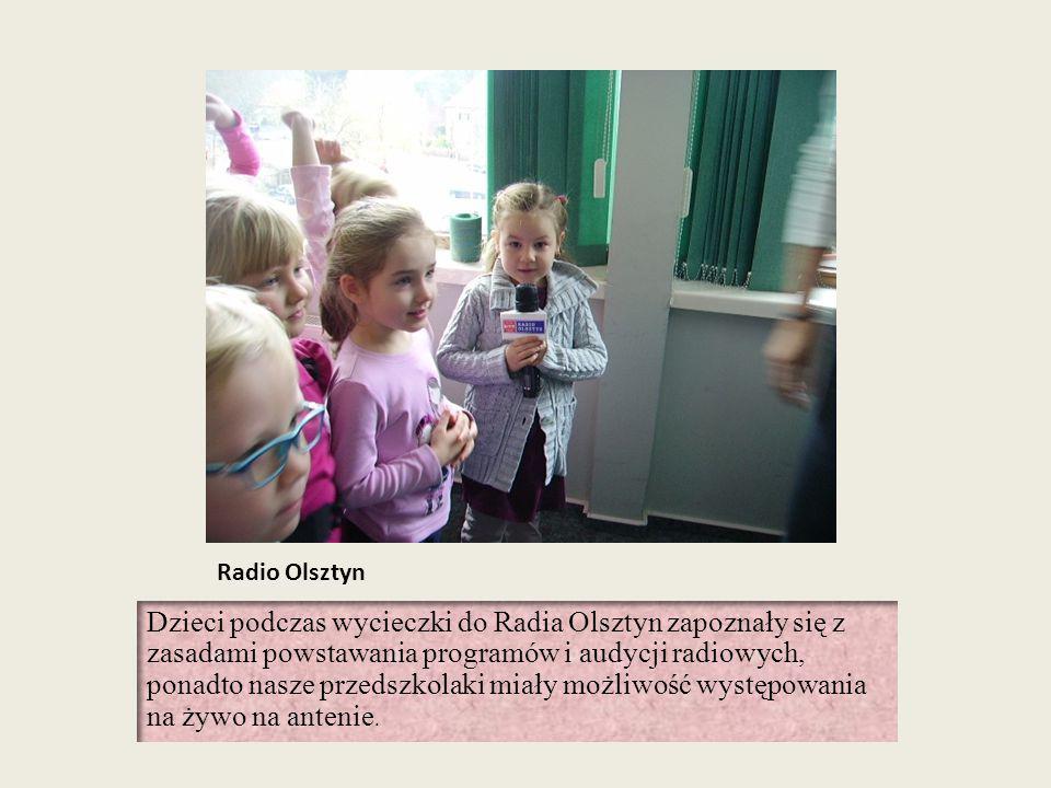 Radio Olsztyn Dzieci podczas wycieczki do Radia Olsztyn zapoznały się z zasadami powstawania programów i audycji radiowych, ponadto nasze przedszkolak