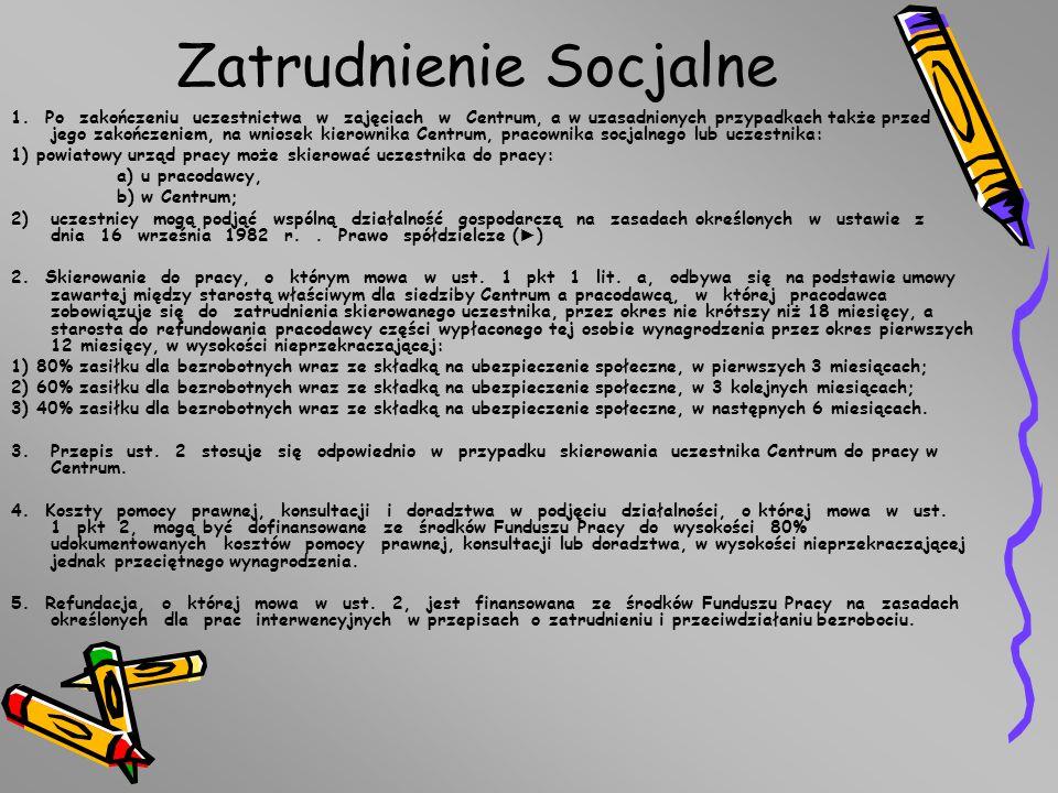 Zatrudnienie Socjalne 1.