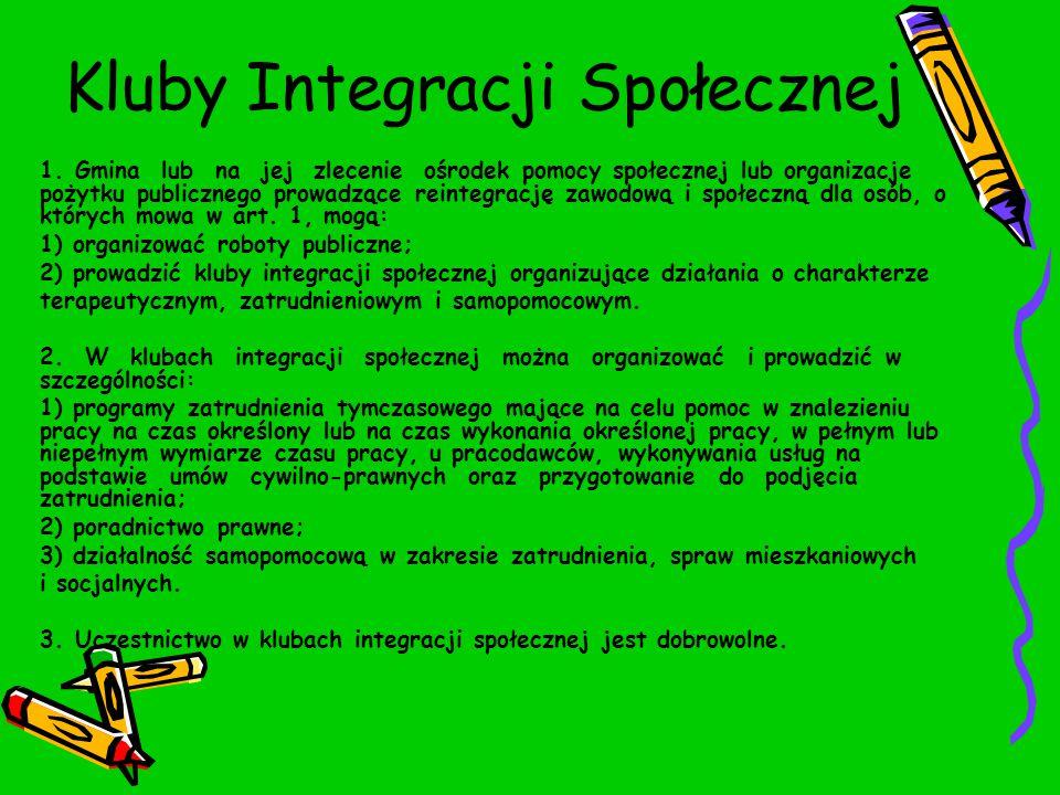 Kluby Integracji Społecznej 1.