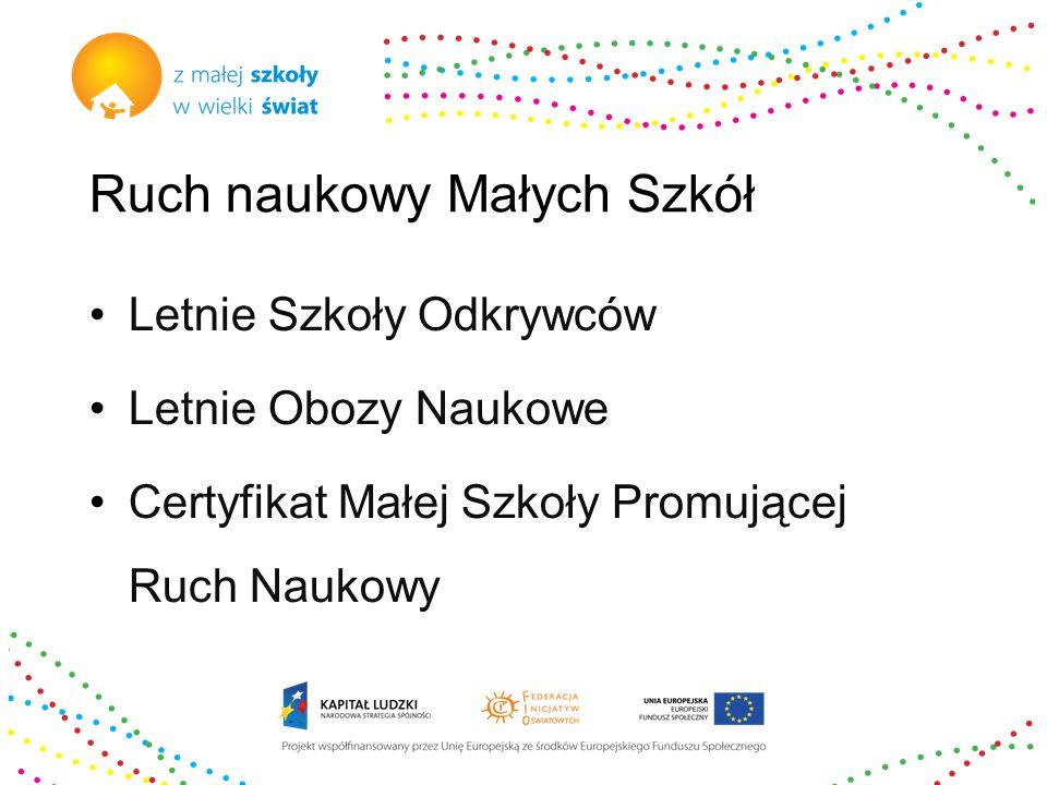 Certyfikat Szkoły Promującej Ruch Naukowy wymagania