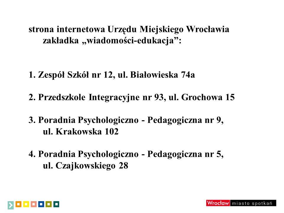 Warunkiem objęcia dziecka zajęciami wczesnego wspomagania rozwoju w danej placówce jest złożenie przez rodzica/opiekuna prawnego wniosku wraz z opinią o potrzebie wczesnego wspomagania rozwoju dziecka, w którym zawarta jest informacja, że dziecko nie ma zorganizowanych zajęć wczesnego wspomagania rozwoju dziecka w innej placówce oświatowej (publicznej i niepublicznej) na terenie Wrocławia.