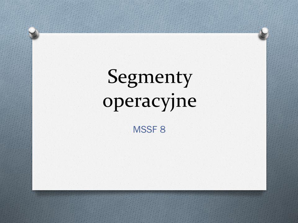 Segmenty operacyjne MSSF 8