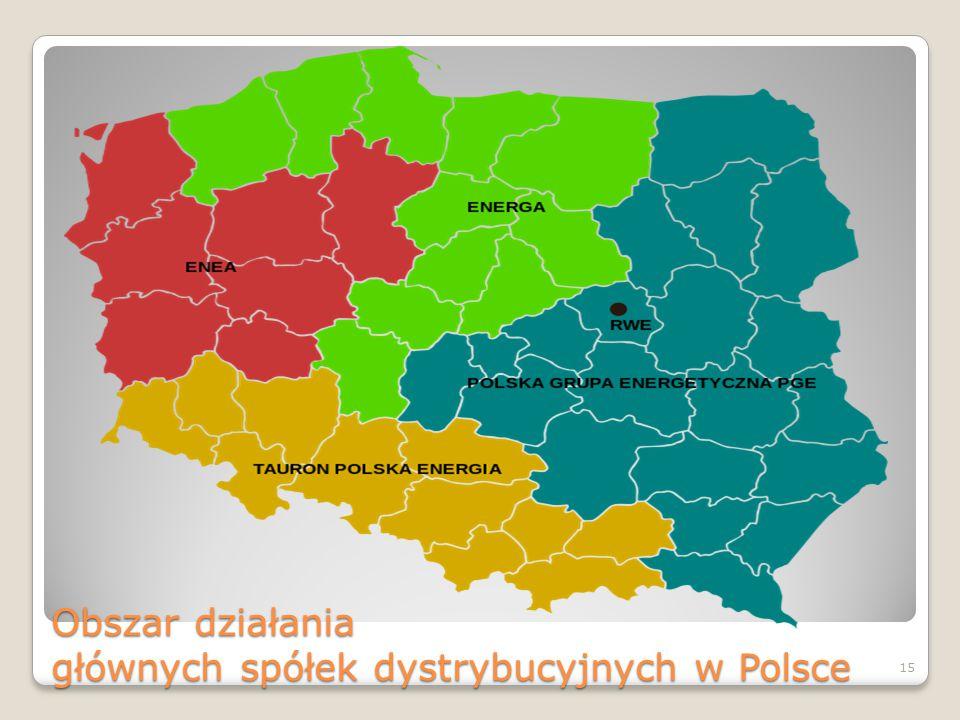 Obszar działania głównych spółek dystrybucyjnych w Polsce 15