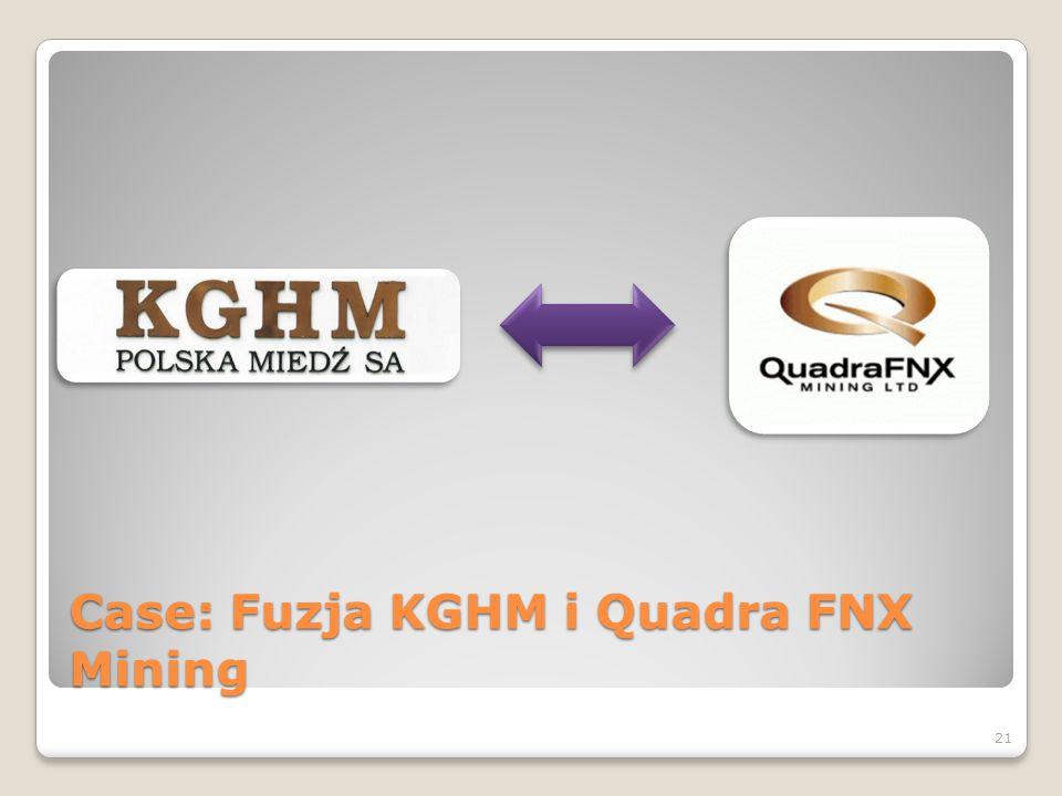 Case: Fuzja KGHM i Quadra FNX Mining 21