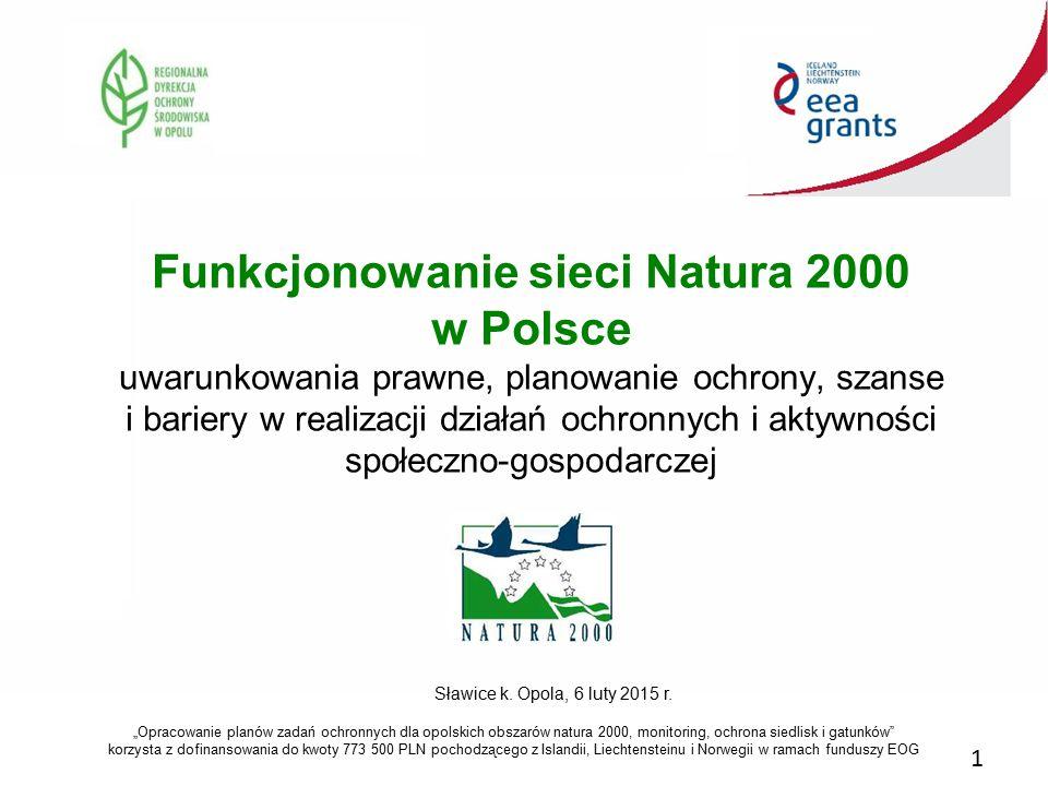 Funkcjonowanie sieci Natura 2000 w Polsce uwarunkowania prawne, planowanie ochrony, szanse i bariery w realizacji działań ochronnych i aktywności społ