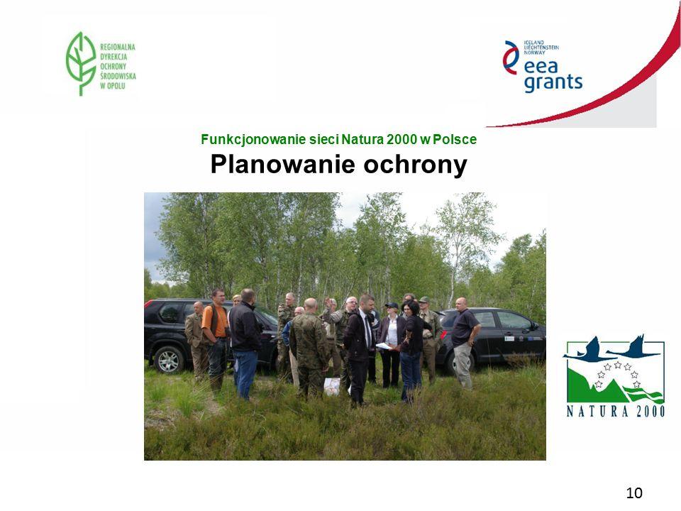 10 Funkcjonowanie sieci Natura 2000 w Polsce Planowanie ochrony