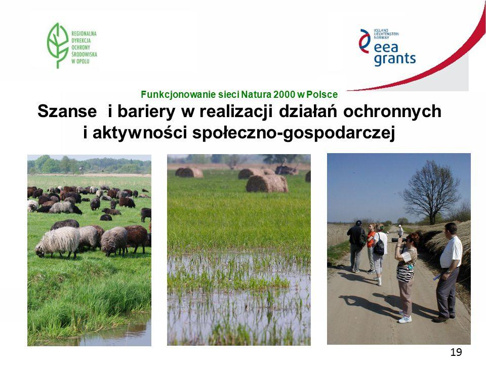 19 Funkcjonowanie sieci Natura 2000 w Polsce Szanse i bariery w realizacji działań ochronnych i aktywności społeczno-gospodarczej