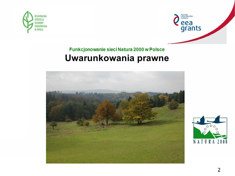 2 Funkcjonowanie sieci Natura 2000 w Polsce Uwarunkowania prawne