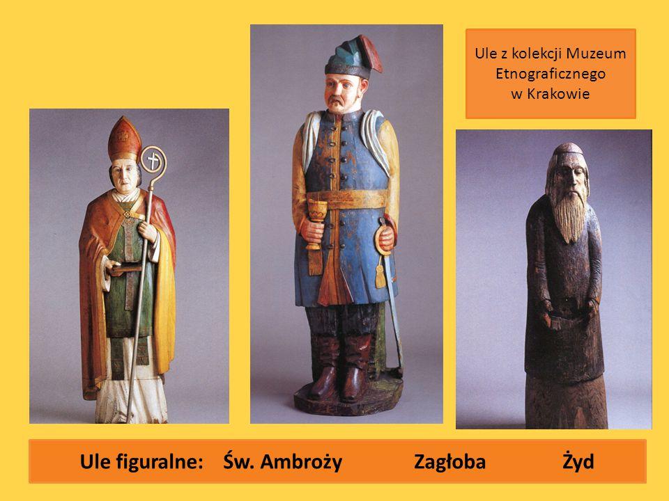Ule figuralne: Św. AmbrożyZagłoba Żyd Ule z kolekcji Muzeum Etnograficznego w Krakowie