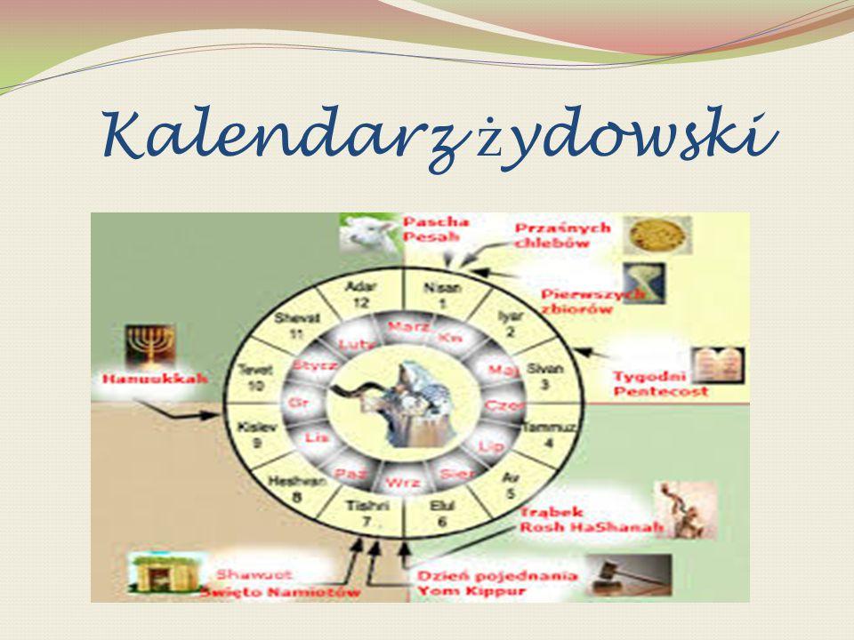 Elementy kalendarza Tydzień – trwa siedem dni od niedzieli do soboty, nazwy 6 zwykłych dni tygodnia to liczebniki porządkowe ( dzień pierwszy, dzień drugi,…), ostatni 7.