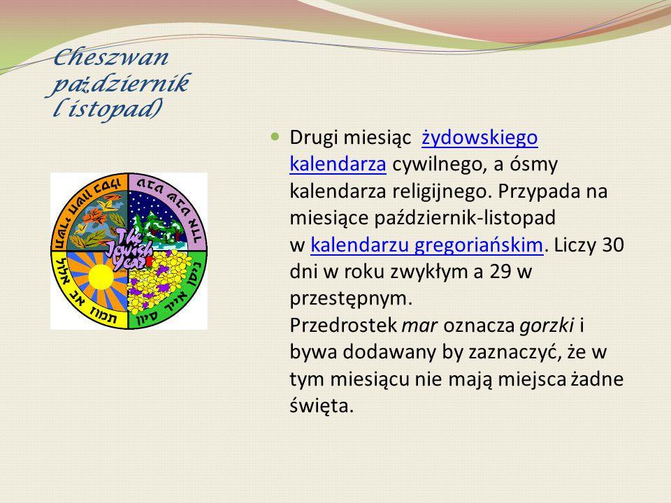 Kislew (listopad/grudzie ń 25.